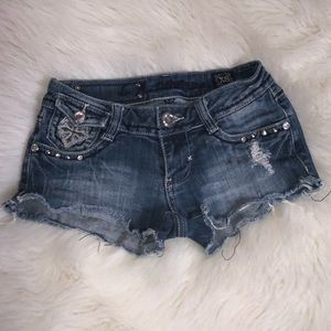 L A Idol Distressed Jeans Shorts Size XS 27